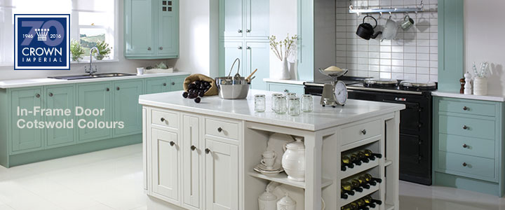 Crown in-frame painted kitchen furniture