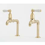 Perrin & Rowe Mayan Bibcock Deck Mounted Taps with Levers