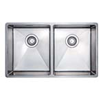 Essentials 10º Radius Double Bowl Undermount Sink