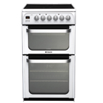 Hotpoint FREESTANDING Ultima 50cm Double Oven Ceramic Cooker