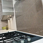 Inspire Bronze Glass Splashback, Metallic