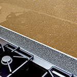 Inspire Copper Glass Splashback, Metallic