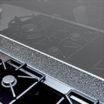 Inspire Steel Glass Splashback, Metallic